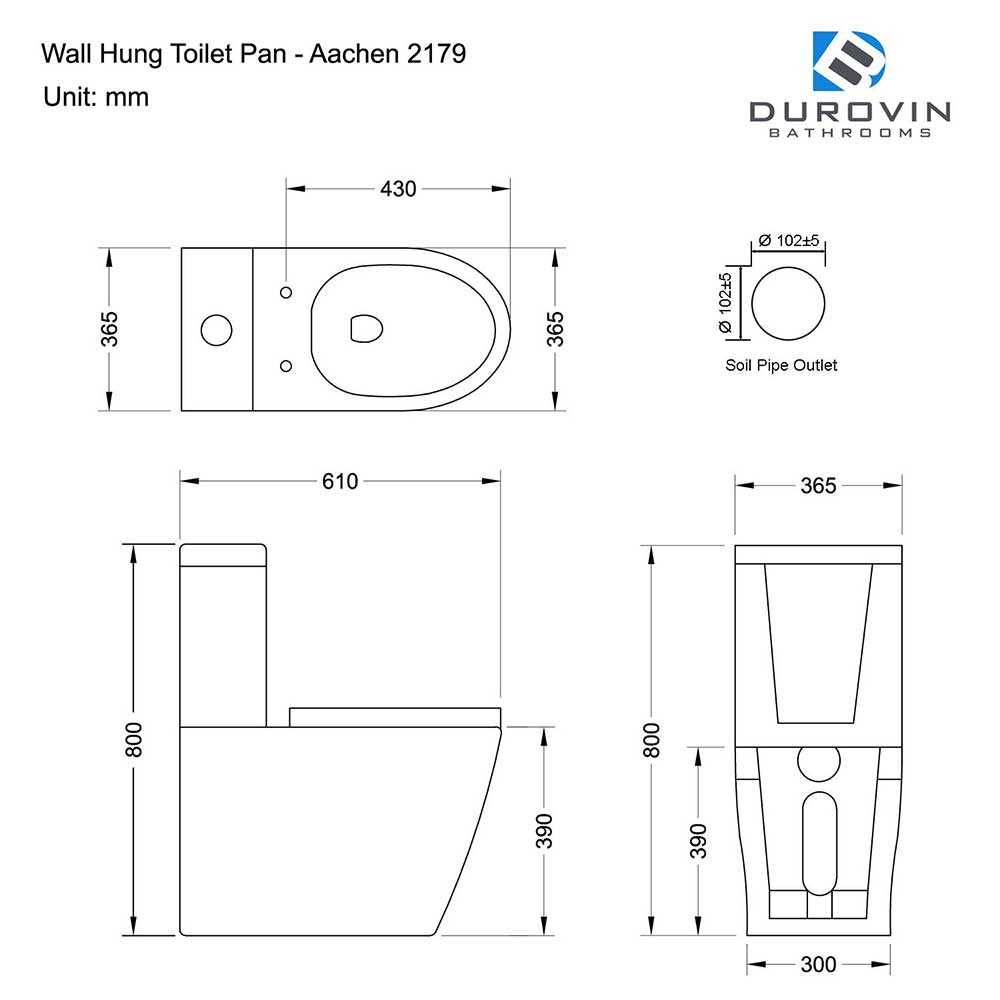 Modern Design Close Coupled Toilet and Cistern With Soft Close Seat Aachen 2179