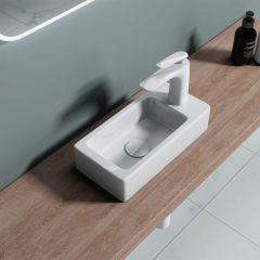 Cloakroom Wall Hung Bathroom Sink Bruessel 3053L Second Image