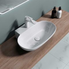 Ceramic Oval Counter Top Basin 560 x 385mm Bruessel 899 Second Image