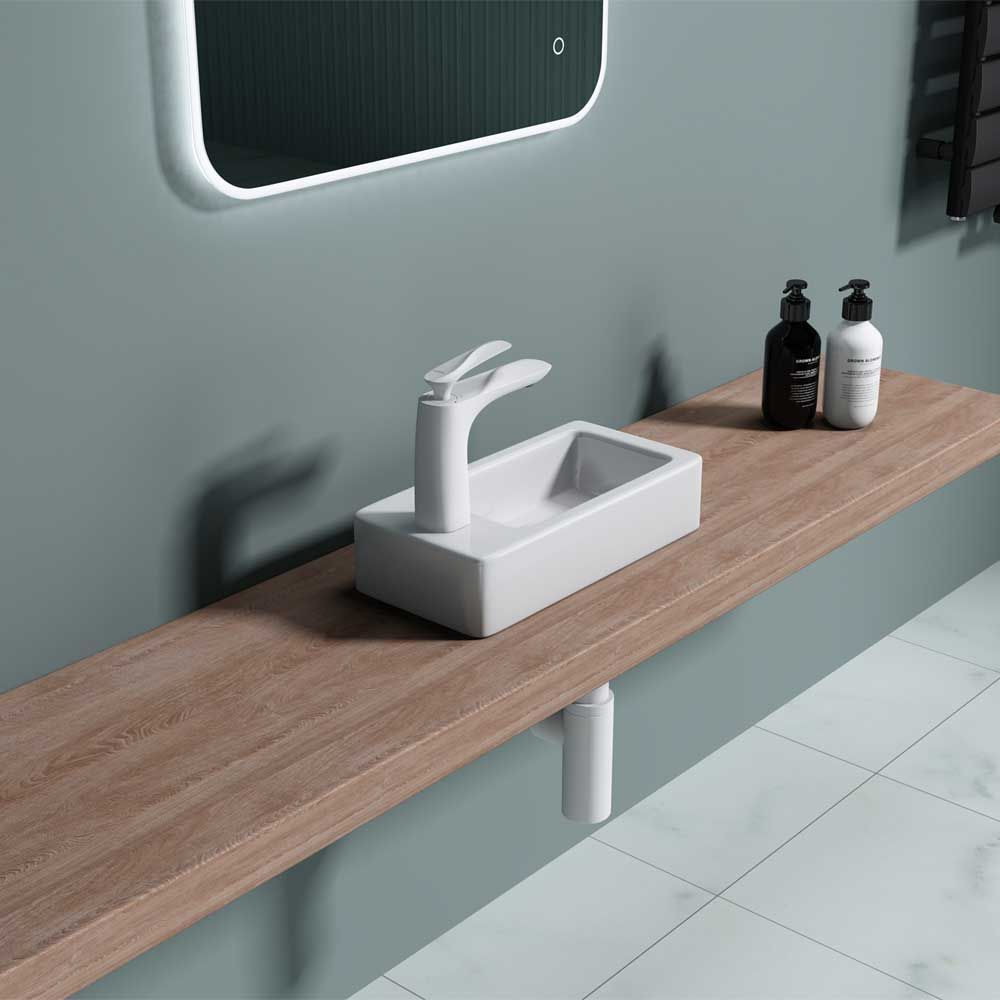 Cloakroom Wall Hung Bathroom Sink Bruessel 3053R Second Image