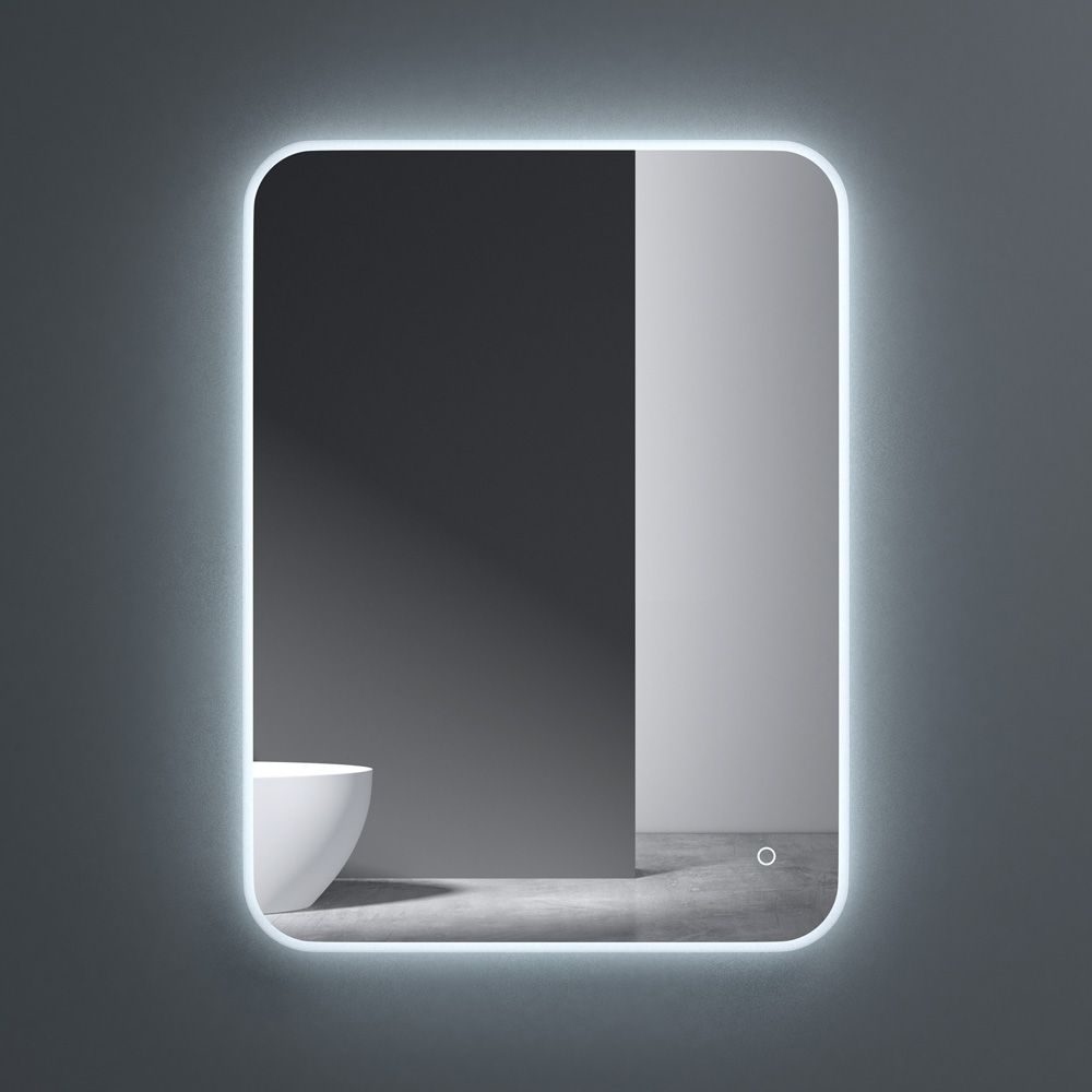 Wall Mounted Illuminated LED Bathroom Mirror Touch Sensitive Switch & Anti Fog | 800 x 600mm