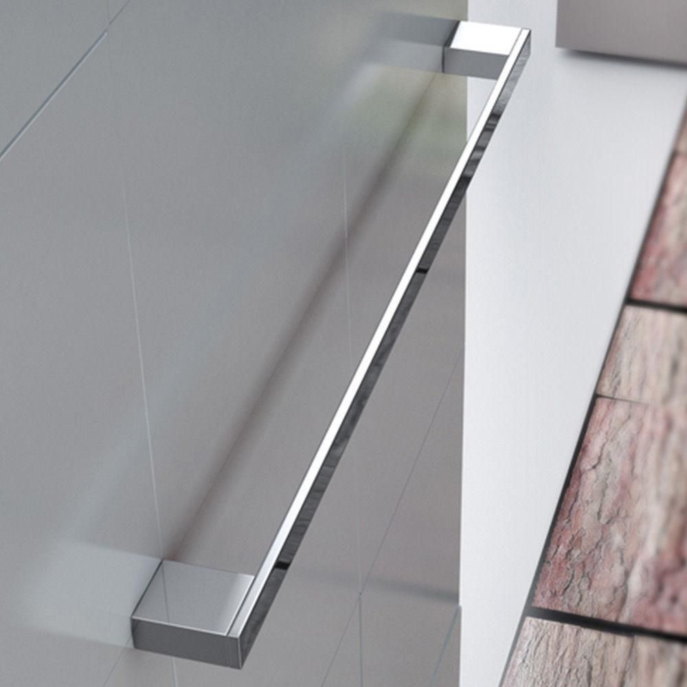 Durovin Bathroom Wall Hung Stainless Steel Towel Rail 600mm Second Image