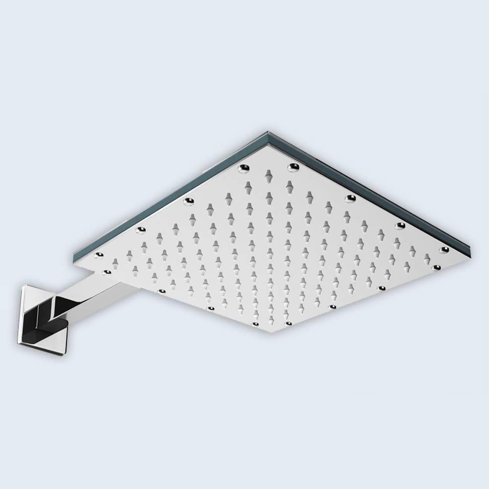 P-818F Chrome Polished Stainless Steel Square Shower Head Range 200mm Second Image