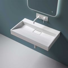 Rectangular Wall Hung & Counter Top Cast Stone Basin  Colossum 19 First Image