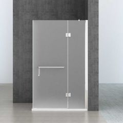 L Shape Shower Enclosure Hinged Door with Towel Rail Handle8mm Safety Clear Glass Ravenna 4 Shower Second Image