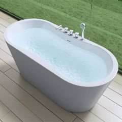 Freestanding Acrylic Bathtub Tub Taps And Bath Shower Mixers Second Image