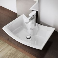 Modern Deep Fill Curved Counter Top Basin 500 x 380mm Bruessel 820 Second Image