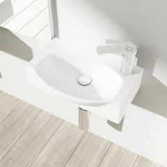 Compact Cloakroom Wall Hung Sink Bruessel 3084 Second Image