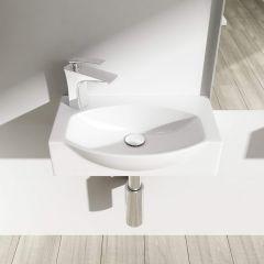 Mini Cloakroom Wall Hung Compact Ceramic Sink 400 x 280mm Bruessel 3084 First Image