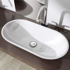 Counter Top Oval Resin Stone Basin 600 x 300mm Colossum 813 Second Image