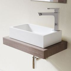 Cloakroom Stone Resin Counter Top Vanity Unit Basin Colossum-101 460 x 260mm