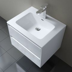 Positano Cloakroom Wooden Wall Mounted Vanity Unit 460 x 260mm Variety Colours