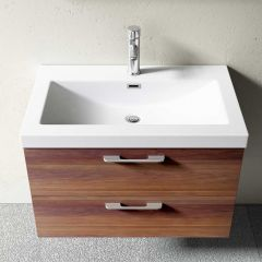 Wall Mounted Vanity Unit With Stone Resin Basin Soft Close Drawer Bavaria