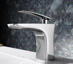 High Quality Bathroom Chrome Single Lever Mixer Basin Tap Second Image