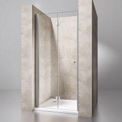 Frameless Bi-Folding Shower Door | Space Saving Shower Enclosure | 6mm Safety Glass |Ravenna 26 Shower Second Image
