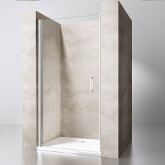 Frameless Pivot Hinged Shower Door | 6mm Safety Clear Glass | Teramo 22 Second Image