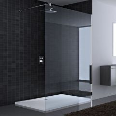 Wetroom Walk In Shower Screen 8mm Toughened Safety Glass Clear Design