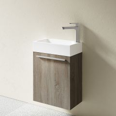 Pisa Cloakroom Wooden Wall Mounted Vanity Unit 460 x 260mm Variety Colours