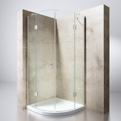Quadrant Shower Enclosure | Double Curved Hinged Door Corner Entry | 8mm Safety Glass | Ravenna 2 Second Image