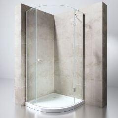 Quadrant Shower Enclosure | Single Curved Hinged Door Corner Entry | 8mm Safety Glass | Ravenna 6 Second Image