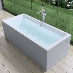 Rectangle Free Standing Double Ended Acrylic Bath Tub 1800 X 800mm Second Image