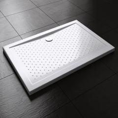 Rectangle Shape Non Slip Acrylic Shower Tray Multiple Size