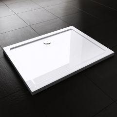 Lucia Range Rectangle Shape Acrylic Shower Tray Free Waste Multiple Size Second Image