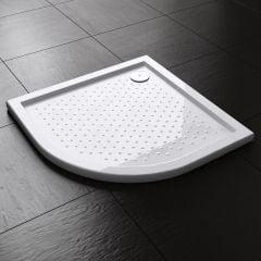 Lucia Range Quadrant Shape Non Slip Acrylic Shower Tray Free Waste Multiple Size  Second Image