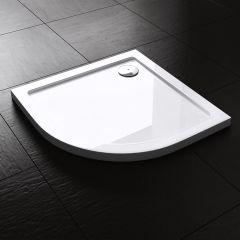Lucia Range Quadrant Shape Acrylic Shower Tray Free Waste Multiple Size Second Image