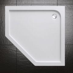 Lucia Range Pentagonal Shape Acrylic Shower Tray Free Waste Multiple Size Second Image