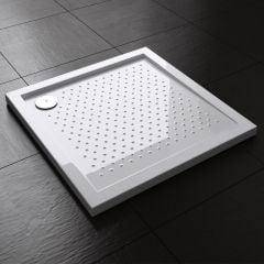 Lucia Range Square Shape Non Slip Acrylic Shower Tray Free Waste Multiple Size  Second Image