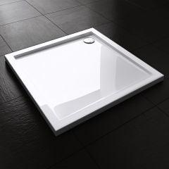 Lucia Range Square Shape Acrylic Shower Tray Free Waste Multiple Size Fourth Image