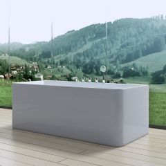 Wall Mounted Double Ended Shower Bath Tub