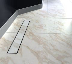 Stainless Steel Linear Walk-In Shower Drain Without Channel Tile Multiple Size QSG-1009