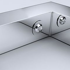Stainless Steel Wall Mounted Mirror Finish Basin Shelf Brackets First Image