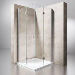 Frameless Bi-Folding Shower Door Space Saving Shower Enclosure 6mm Safety Glass
