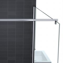 Wetroom Walk In Shower Screen 8mm Toughened Safety Glass Frosted Strip