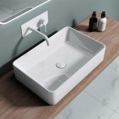 Modern Rectangular Counter Top Ceramic Basin 580 x 380mm | Brussel 105D