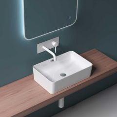 Counter Top Rectangle Ceramic Bathroom Basin Shallow 315 x 480mm | Bruessel 180c