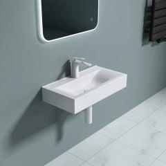 Square Ceramic Counter Top Bathroom Washing Basin 600 x 310mm | Bruessel 118G