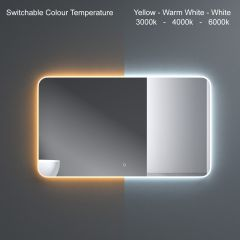 Wall Mounted Illuminated LED Bathroom Mirror Touch Sensitive Switch & Anti Fog | 1200 x 700mm