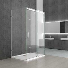 Rectangular U Shape Frameless Shower Enclosure Sliding Door 8mm Safty Glass Ravenna 17-2nd Second Image