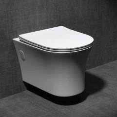 Rimless Wall Hung U Shape Toilet With Soft Close Seat Aachen 304B