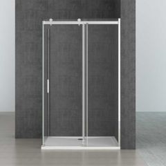 Rectangular L Shape Frameless Shower Enclosure Sliding Door 8mm Safty Glass Ravenna 17 Seventh Image