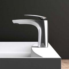 High Quality Bathroom Chrome Single Lever Monobloc Mixer Basin Tap - Basin Top - Chrome