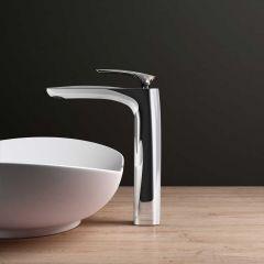 High Quality Bathroom Chrome Single Lever Monobloc Mixer Basin Tap - Counter Top - Chrome