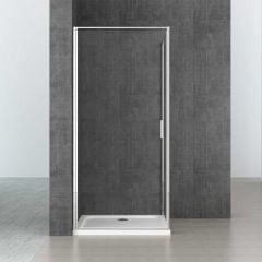 L Shape Rectangular Pivot Hinged Shower Enclosure 6mm Safety Clear Glass | Ravenna 56