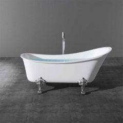 Single Ended Roll Top Freestanding Acrylic Bath Tub 1760 X 720mm