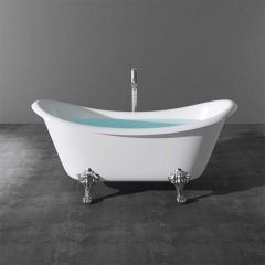 Double Ended Roll Top Freestanding Acrylic Bath Tub 1770 x 690mm