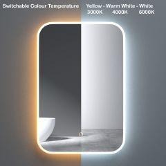 Wall Mounted Illuminated LED Bathroom Mirror Touch Sensitive Switch & Anti Fog | 400 x 600mm